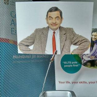 Mr Bean assisting our lessons :-)