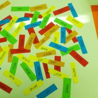 Playing with irregular verbs